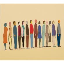 CHRIS JOHANSON - Untitled (Row of People)
