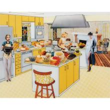 LAURIE SIMMONS - The Instant Decorator (Yellow Kitchen)
