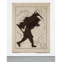 WILLIAM KENTRIDGE - Porter Series: Man with Bed on Black