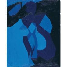 CHRIS OFILI - Nude Study in Blue