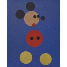 DAMIEN HIRST - Mickey (Blue Glitter), 2016