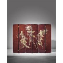 KATSU HAMANAKA - Important and rare six-panelled screen with mythological scene, 1939