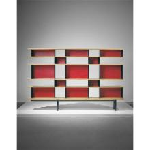 CHARLOTTE PERRIAND - Important 'Antony' bookcase, designed for the Cité Universitaire, Antony, 1954-1955