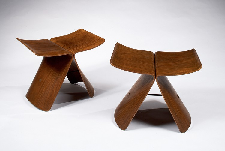PAIR OF BUTTERFLY STOOLS, 1950s