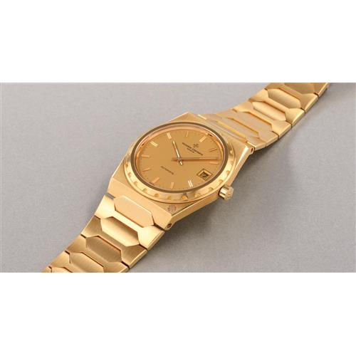 VACHERON CONSTANTIN - A very fine and rare yellow gold wristwatch with date and bracelet, 1979
