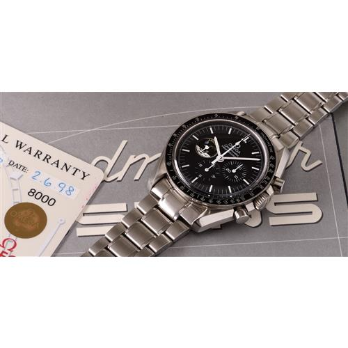 OMEGA - A limited edition stainless steel chronograph wristwatch made to commemorate the Apollo XI mission, 1998