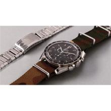 OMEGA - A rare and very attractive stainless steel chronograph wristwatch with telemeter scale and bracelet, 1968