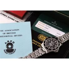 ROLEX - A rare and attractive stainless steel diver's wristwatch with date, bracelet, box and literature about the original owner's career, made for COMEX, 1984