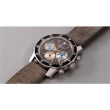 HEUER - A very fine and rare stainless steel chronograph wristwatch with tidal indication, retailed by Orvis, 1973