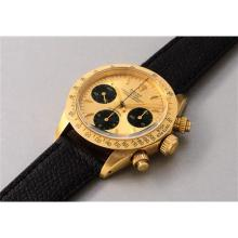 ROLEX - A very rare and attractive yellow gold chronograph wristwatch, 1987
