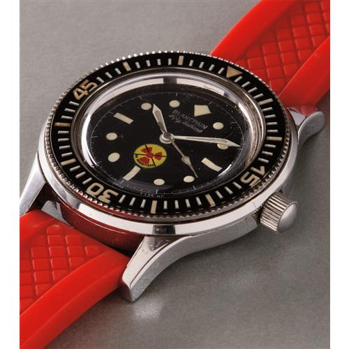 BLANCPAIN - A rare and very attractive stainless steel diver's wristwatch with