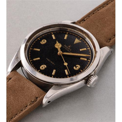 ROLEX - A fine and attractive stainless steel wristwatch made for the British Army, 1953