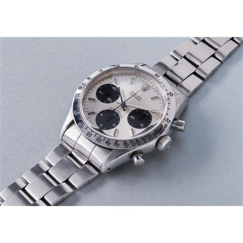 ROLEX - A very fine and rare stainless steel chronograph wristwatch with bracelet, circa 1971