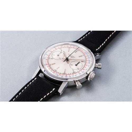 LONGINES - A fine and attractive stainless steel chronograph wristwatch with tachymeter and telemeter scales, 1970