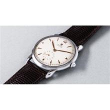 ROLEX - An very rare and large stainless steel wristwatch, circa 1950