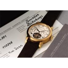 A. LANGE & S…HNE - A very fine and limited edition yellow gold tourbillon wristwatch with fusŽe chain and power reserve, 2000