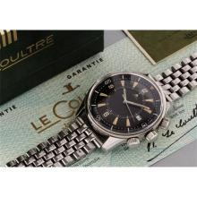 JAEGER LECOULTRE - A diver's stainless steel alarm wristwatch with box, certificate, and steel bracelet, 1968