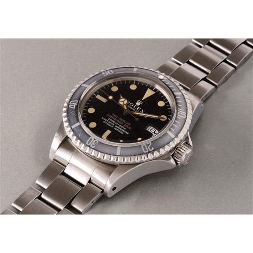 ROLEX - A fine and very rare stainless steel automatic wristwatch with center seconds, date and bracelet, gas escape valve,