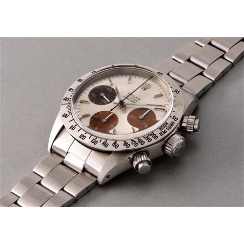 ROLEX - A very attractive stainless steel chronograph wristwatch with