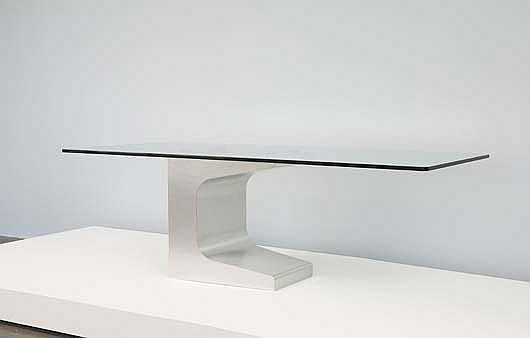 A working prototype dining table from the edition