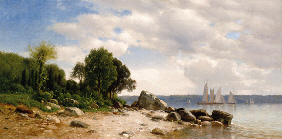 Property from the Thyssen-Bornemisza Collection SAMUEL COLMAN (1832-1920) View on the Hudson signed