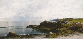 Property from the Thyssen-Bornemisza Collection ALFRED THOMPSON BRICHER (1837-1908) Low Tide at