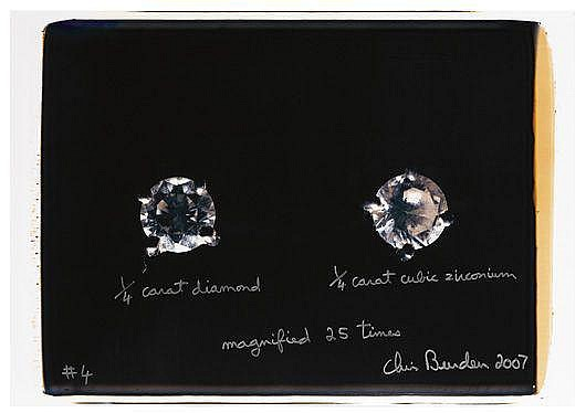 CHRIS BURDEN 1/4 Carat diamond 1/4 carat cubic