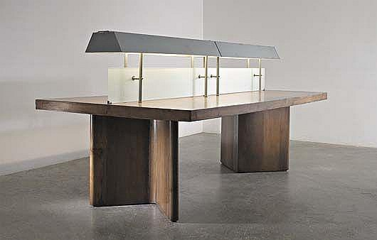Illuminated library table, from Chandigarh, India, ca. 1966