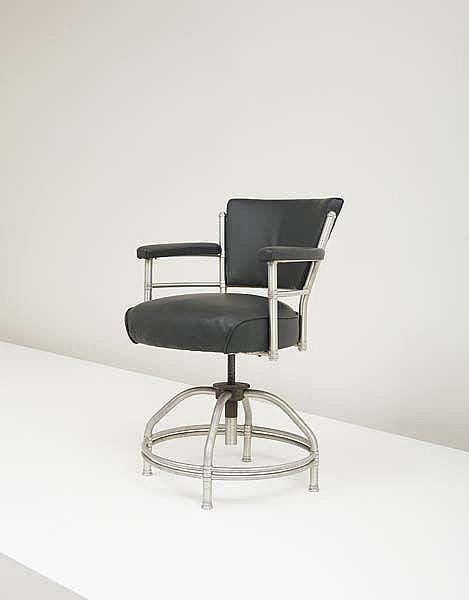 Rare swiveling armchair, 1930s