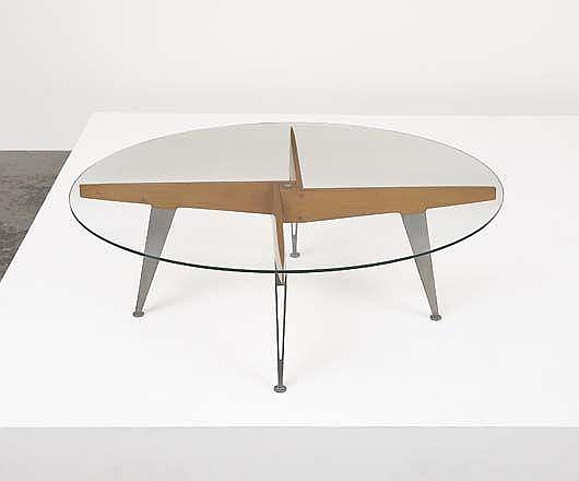 Important coffee table, ca. 1953