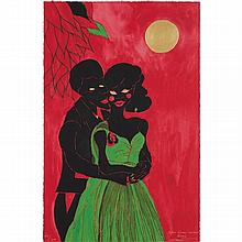 CHRIS OFILI - Afro Lunar Lovers I, 2003