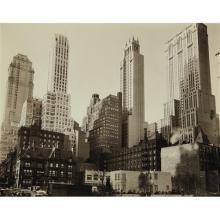 BERENICE ABBOTT - Park Avenue and Thirty-Ninth Street, Manhattan, 1936