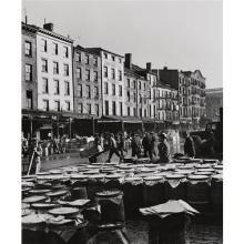 ANDREAS FEININGER - Fulton Fish Market, Port of New York, 1946