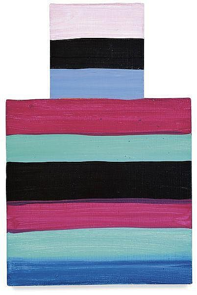 MARY HEILMANN Pink Shoulders, 1982/2001 Oil on