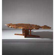 GEORGE NAKASHIMA - Rare coffee table with special early variant Minguren base, 1965