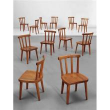 AXEL EINAR HJORTH - Set of twelve chairs, from the 'Ut?' series, 1930s