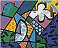 ROMERO BRITTO Man in Chaos, 1991, Romero Britto, Click for value