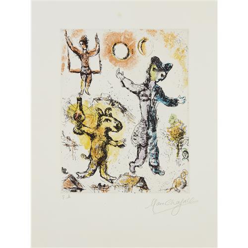 MARC CHAGALL - Le Rêve de l'âne (The Donkey's Dream), 1968