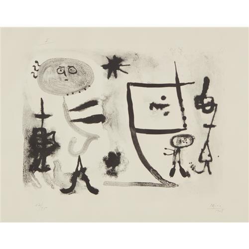 JOAN MIRÓ - Album 13: plate I, 1948