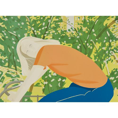 ALEX KATZ - Bicycle Rider, from New York: Eight Contemporary Artist's Celebrate Their City, 1982