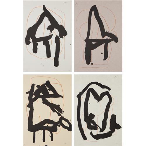 ROBERT MOTHERWELL - Beau Geste Pour Lucrece: plates I; IV; V; and VI, 1989