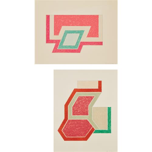 FRANK STELLA - Conway; and Sunapee, from Eccentric Polygons, 1974