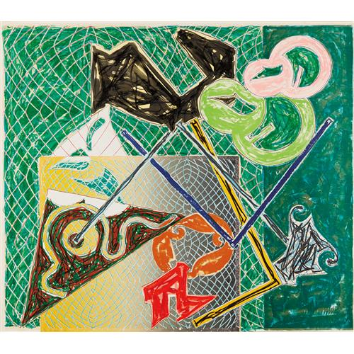 FRANK STELLA - Shards V, 1982