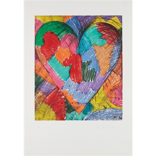 JIM DINE - The Heart Called Paris Spring, 1982