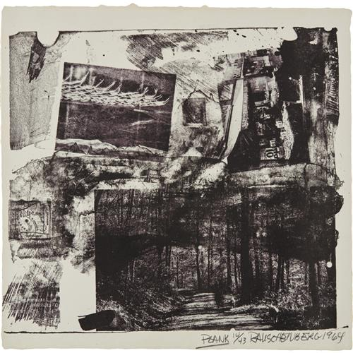 ROBERT RAUSCHENBERG - Plank, from XXXIV Drawings for Dante's Inferno, 1964