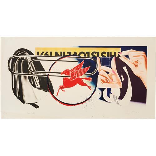 JAMES ROSENQUIST - Paper Clip, 1974