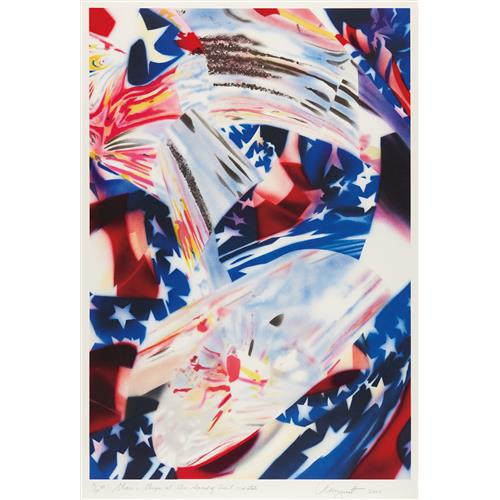 JAMES ROSENQUIST - Stars and Stripes at the Speed of Light, 2010