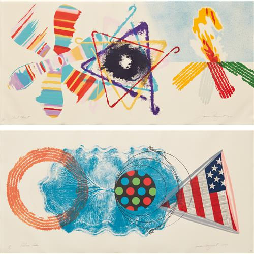 JAMES ROSENQUIST - Fast Feast; and Elbow Lake, 1977