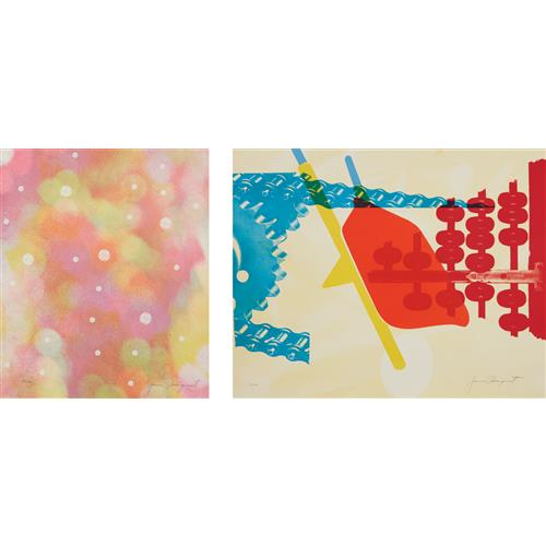 JAMES ROSENQUIST - Circles of Confusion, from 11 Pop Artists, Volume 1; and Whipped Butter for Eugene Ruchin (two prints), from 11 Pop Artists, Volume II, 1965
