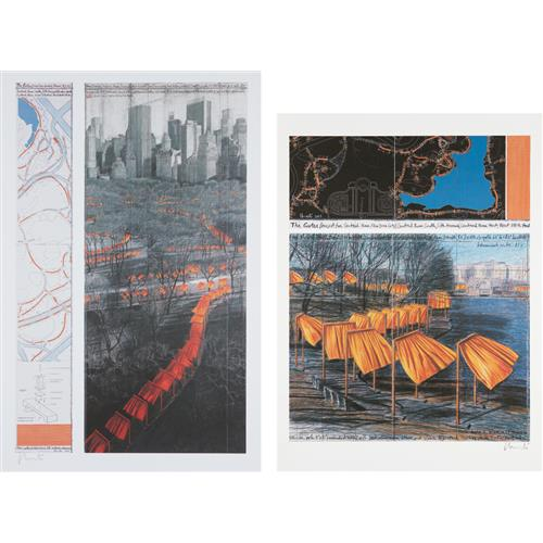 CHRISTO - The Gates, Project for Central Park, VIII, New York City; and The Gates XXIX, Project for Central Park, New York City, 2003